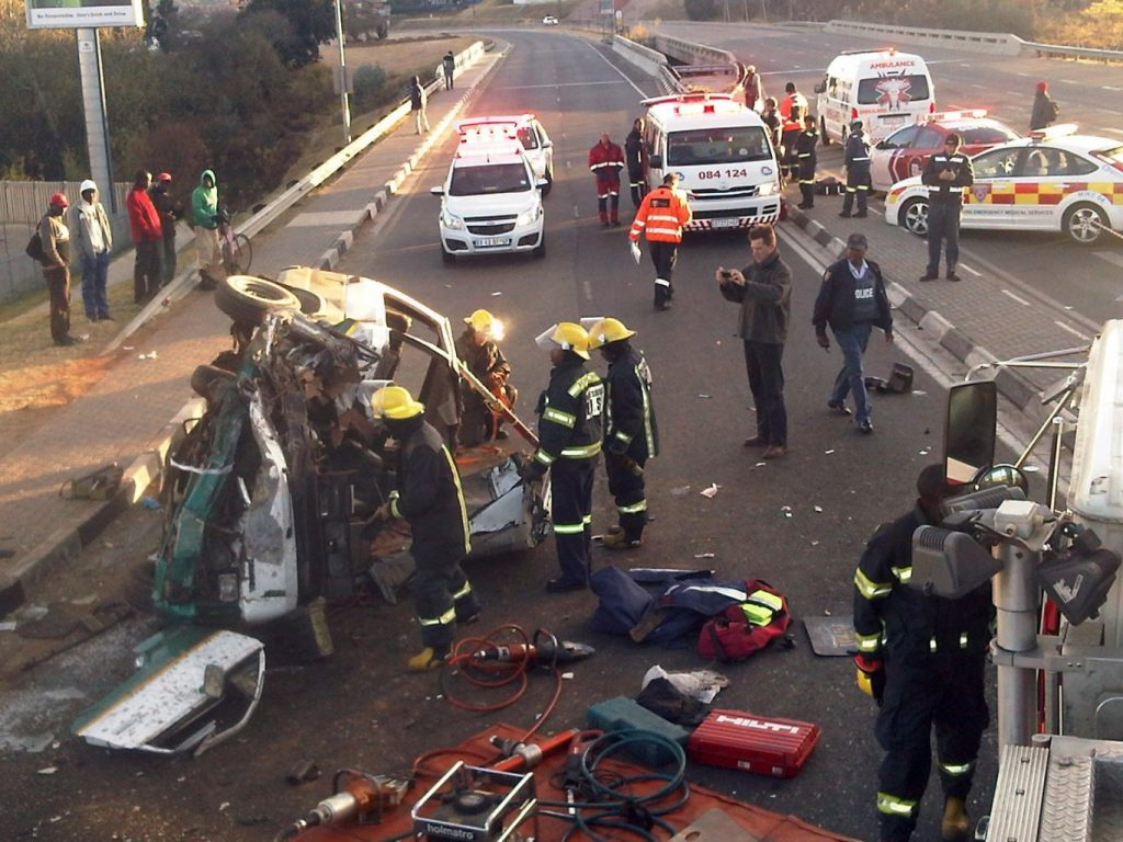 Head on collision Witkoppen and Rivonia