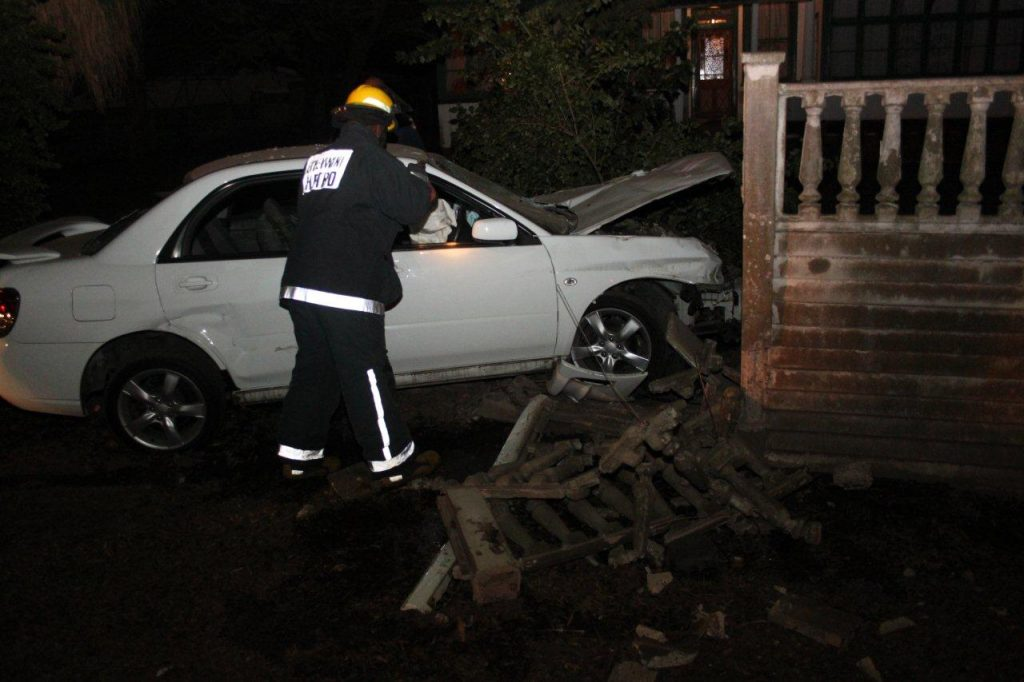 Driver Loses Control And Crashes Into Residential Wall