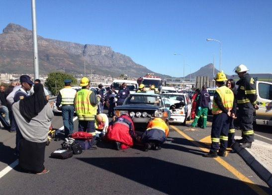 Three injured in N1, M5 collision near Paarden Eiland