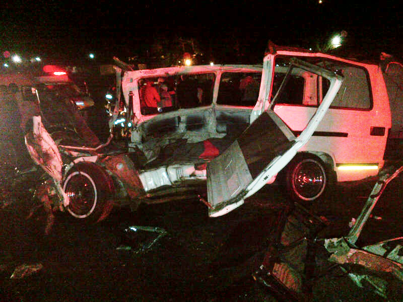 4x4 and taxi collide in Eikenhof