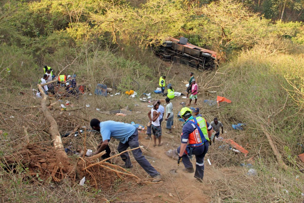 Photos from horror school bus crash killing 4 children in Inanda, KZN