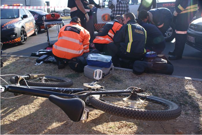 Cyclist airlifted from accident scene in Paulshof