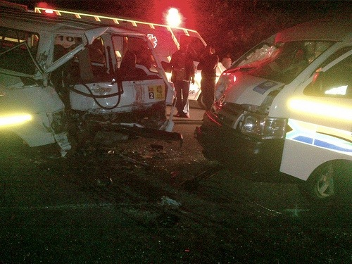 Two taxis collide head on at Marion Hill in KZN