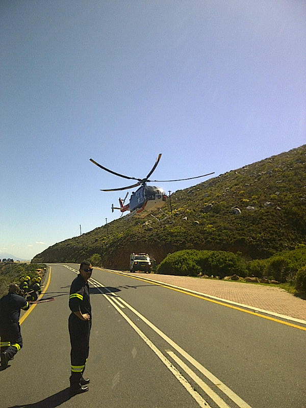 Motorcyclist Airlifted From Pringle Bay After Accident