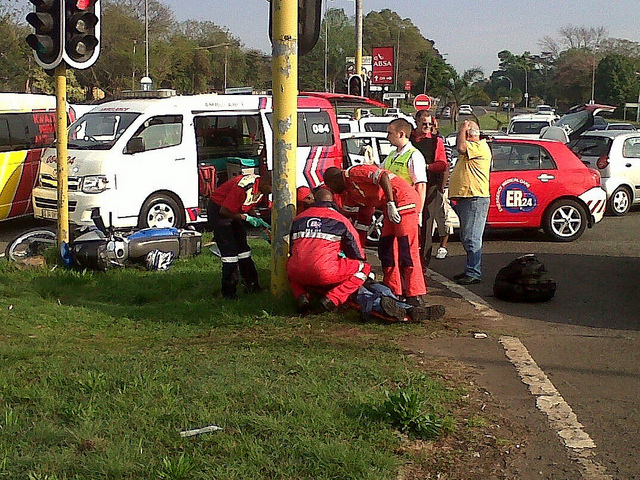 Motorcyclist injured in Pietermaritzburg collision