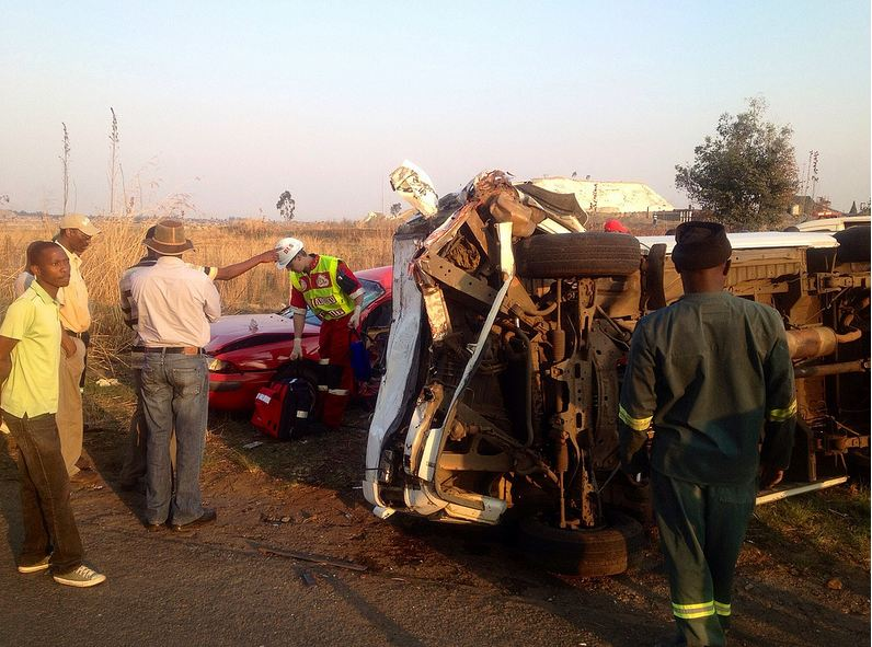 Man airlifted from Benoni taxi accident