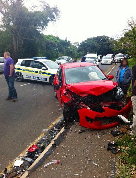 Four injured in Amanzimtoti head-on collision