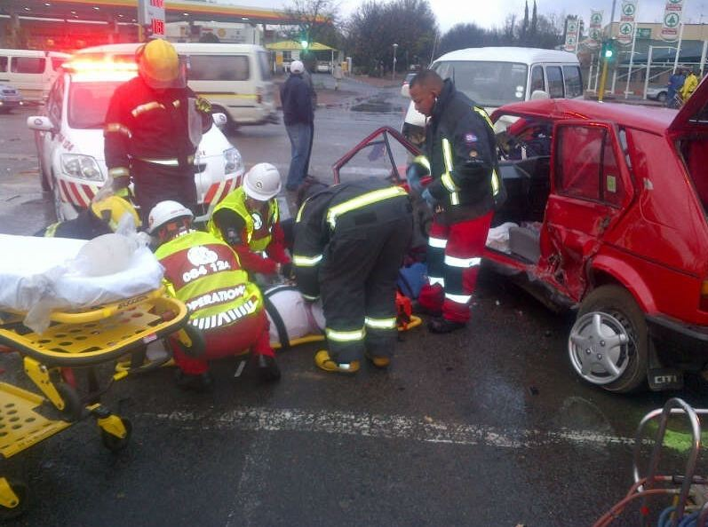 Elderly couple injured in Potch accident