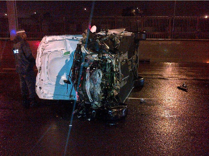 Driver Loses Control Of Car On The M4 Southern Freeway