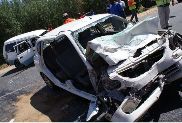 Head-on collision on Witkoppen Road
