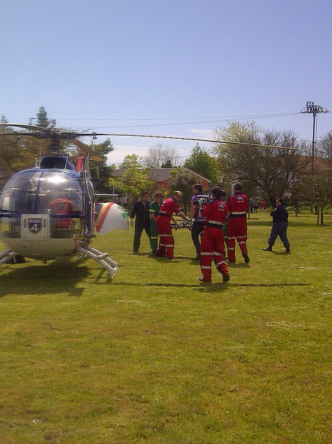 4year old pedestrian airlifted from Franschhoek