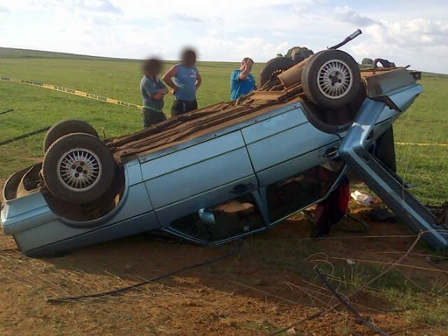 Five injured after car overturned in Wolmaranstad (North West)