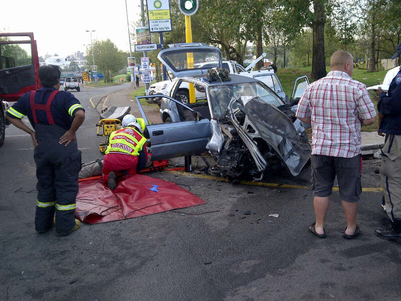 Side impact collision leaves two injured