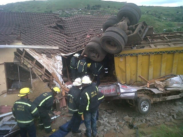 Truck Crashes Into House In Edendale Outside Of Pietermaritzburg