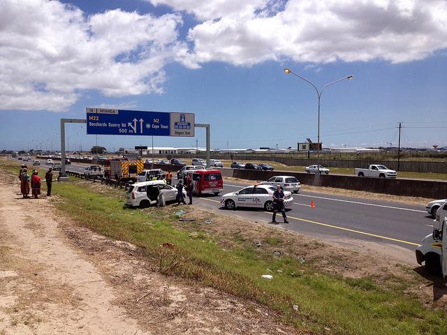 Vehicle rolls - 9 injured