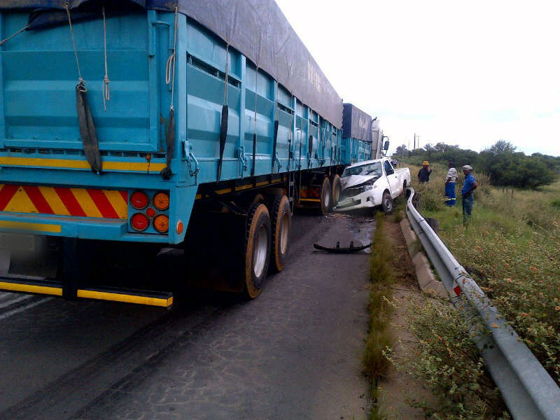 Lucky escape after truck accident