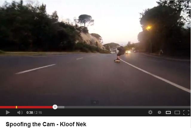 What does the law have to say about the crazy skateboarding stunt in Kloof Nek?