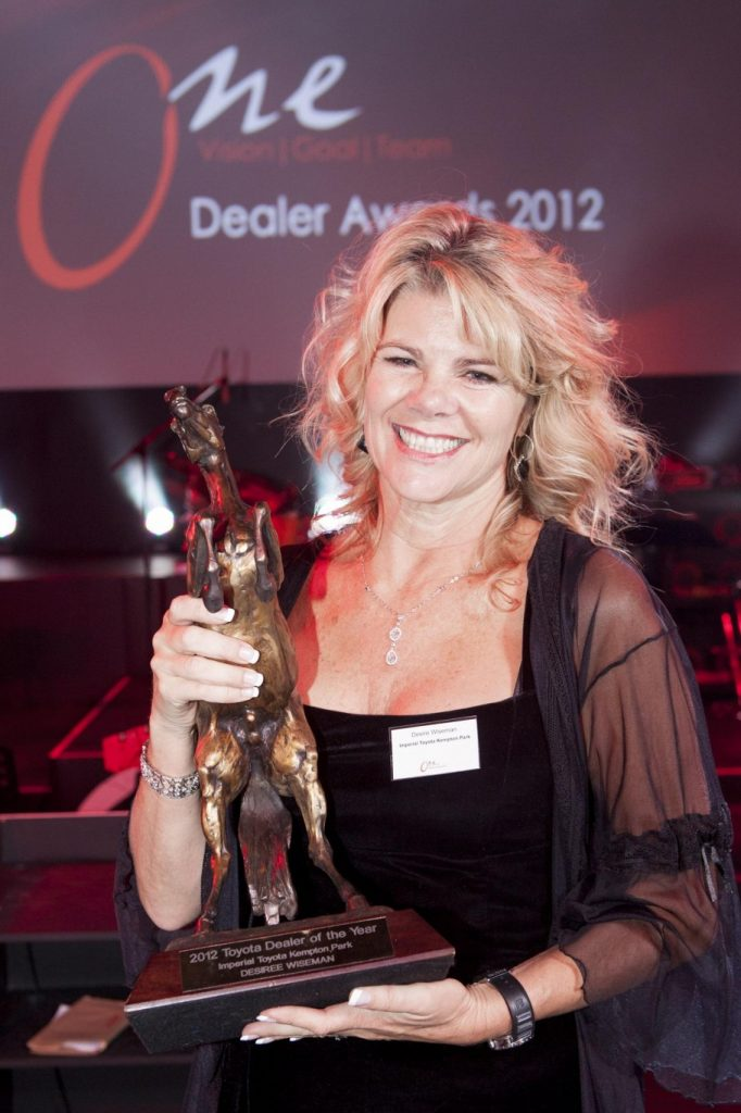 Toyota South Africa awards first female top dealer