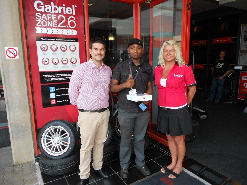 Gabriel Presents Prizes to Barden Tyres Winners