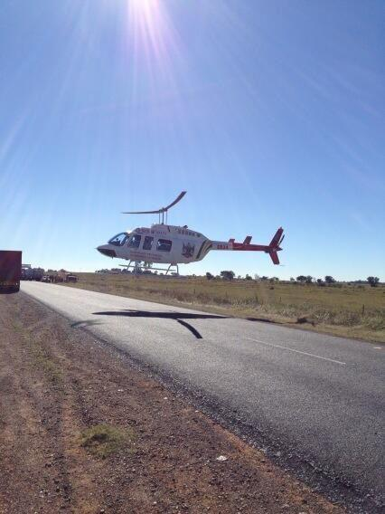 Patient Airlifted From N12 Potchefstroom Accident