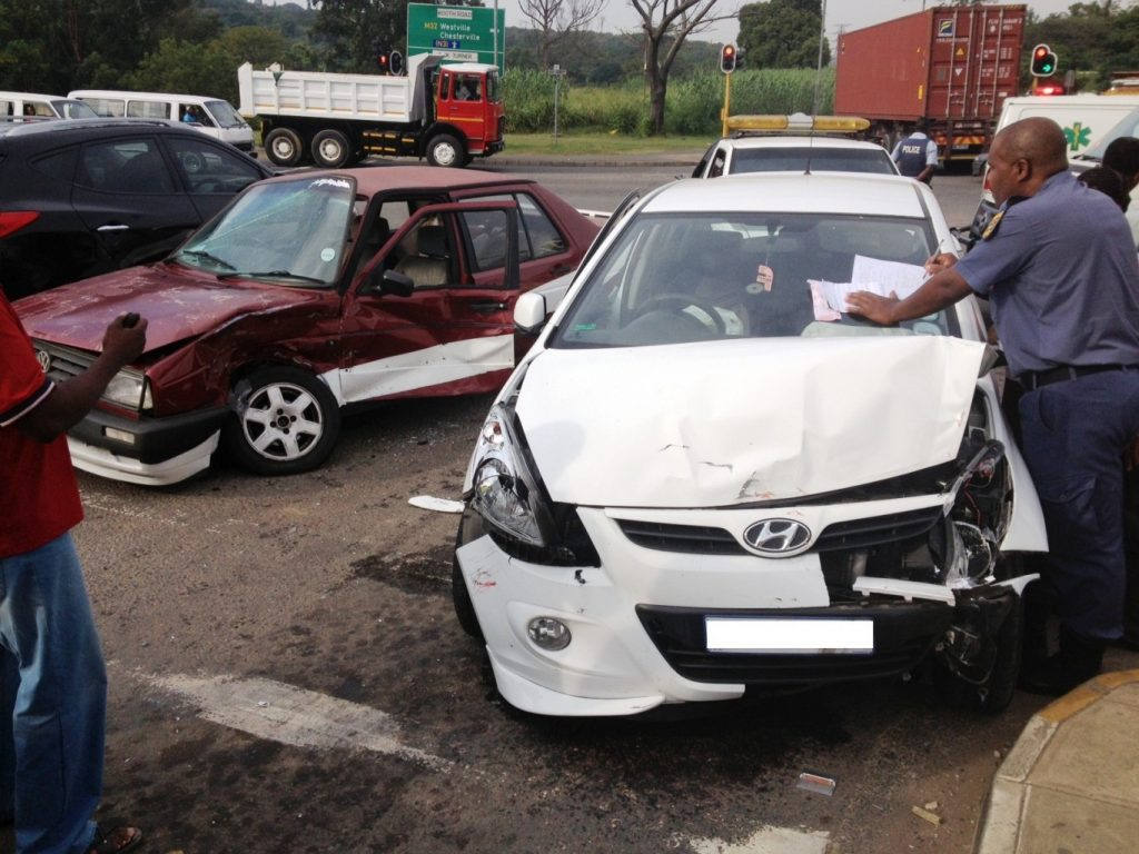 Morning collision on the corner of Booth Road and Bellair Road leaves 6 injured