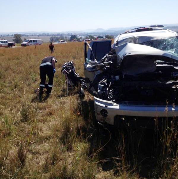 Land Rover rear-ends gas truck on the N14 in Petroport