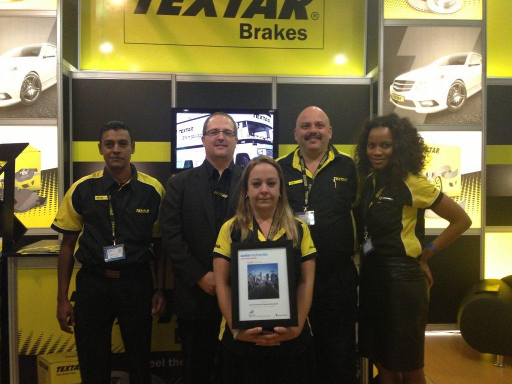 Textar wins gold at Automechanika 2013
