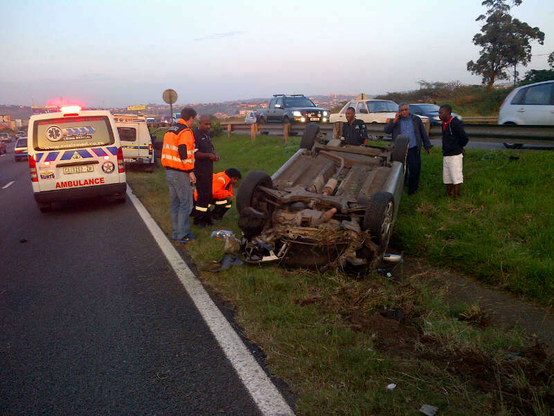 1 Person Seriously Injured In N2 Roll Over