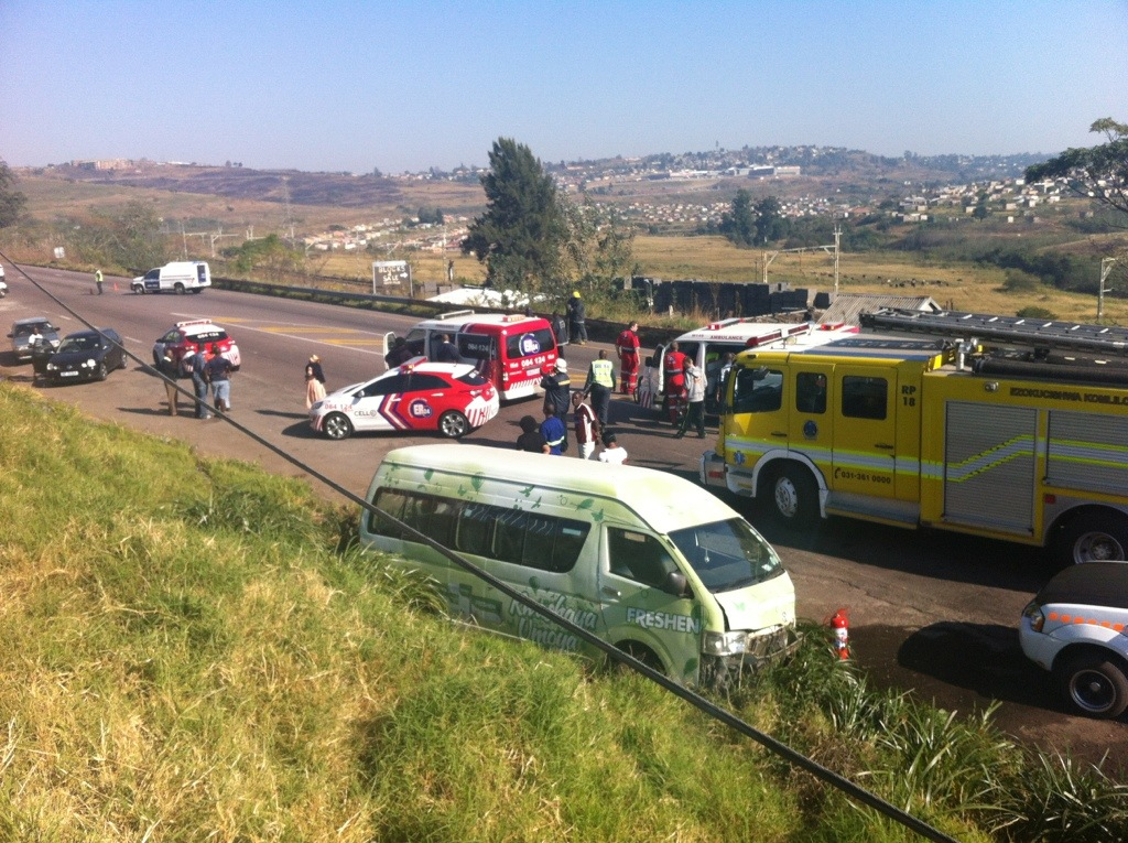 Seven injured in collision on Old Main Road in Hammersdale