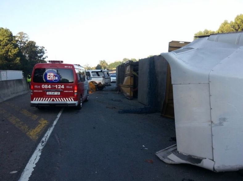 Three Cars And A Truck Accident Leaves Five Injured