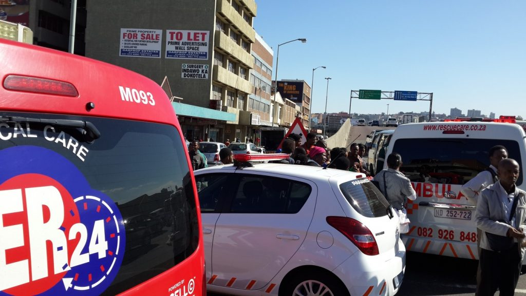Sixteen commuters injured after two mini-bus taxis collide at intersection in Durban