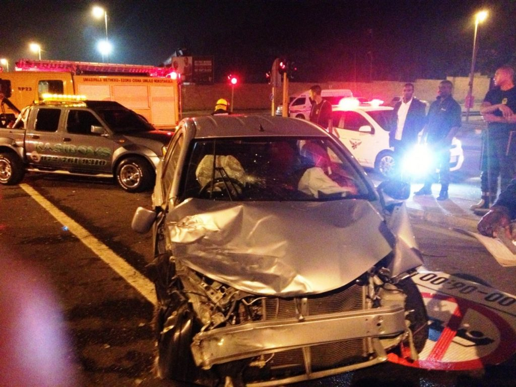 Collision at the corner of Booth Road and Bellair Road leaves four injured, 1 serious