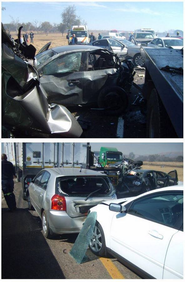 Horrific accident involving 15 vehicles on the N4 leaves scores injured
