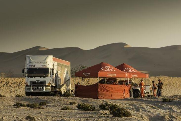 Toyota Motorsport Prepares for 2014 DAKAR Rally in the Namib Desert