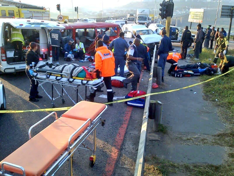 19 Injured, 5 Serious In Queen Nandi Drive Taxi Collision