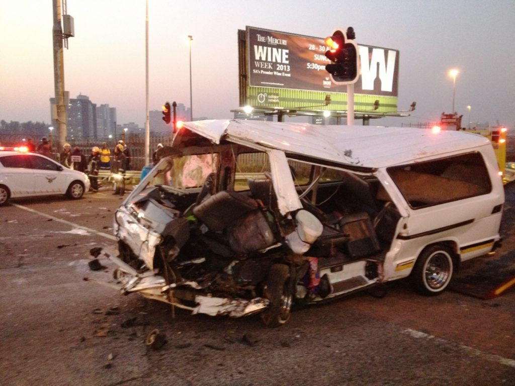 Taxi collision at Umgeni Road and Argyle Road leaves 13 injured