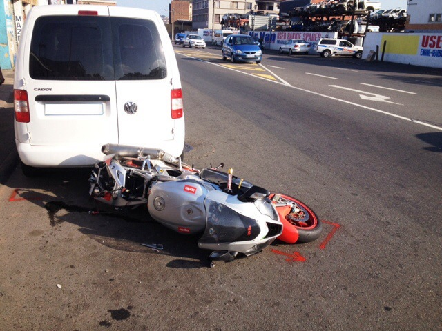 Biker seriously injured on Jacobs road