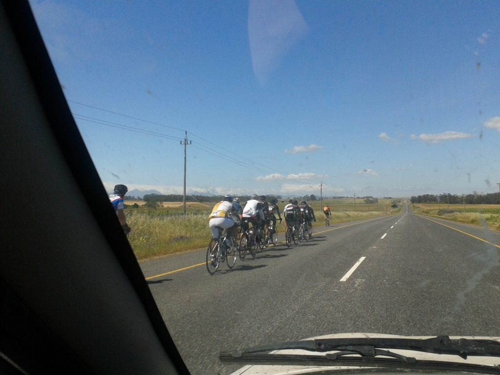 Cyclists sharing the roads need to cycle single file -it is the law!!