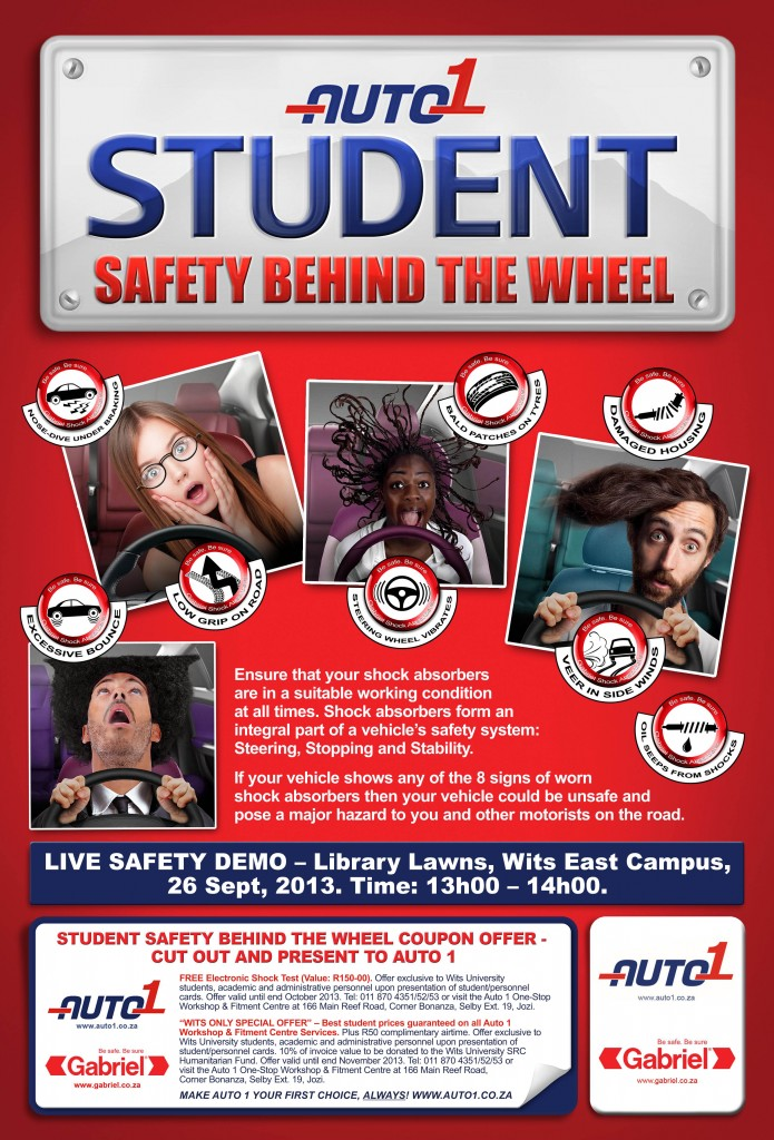"Gabriel Runs Students' ""Safety Behind Wheel"" Promotion with Auto 1 Fitment Centre"