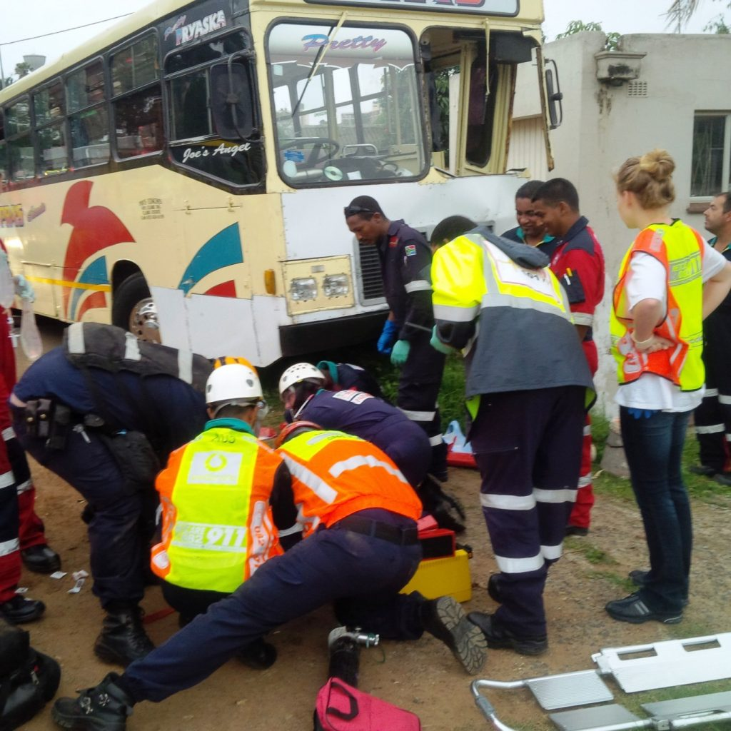 Serious collision between bus and car in Durban leaves 10 injured, 2 critical