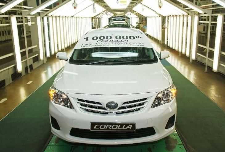 New Milestone For Toyota SA Motors with millionth Corolla locally produced!