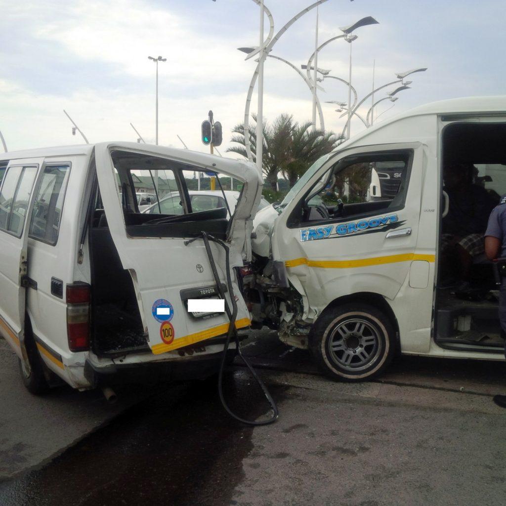 Taxi crash leaves 7 injured