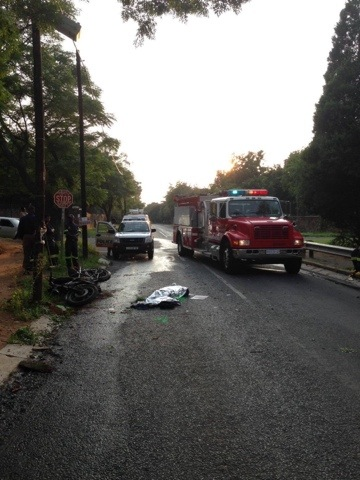 Male biker dies in collision into tree in Randburg