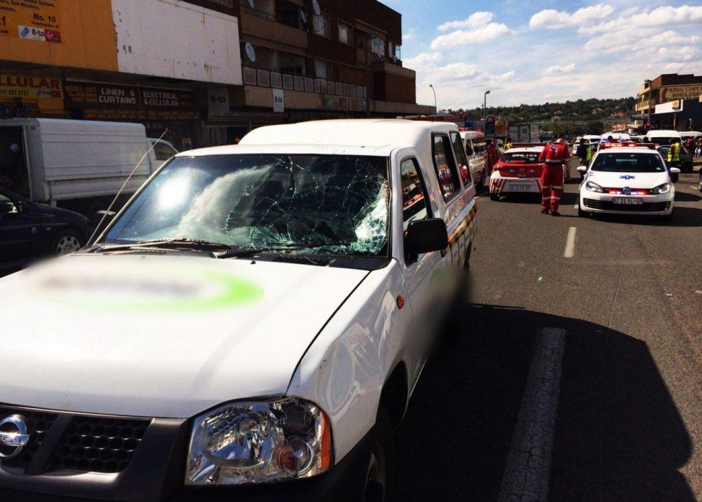 Pedestrian on ventilator after collision in Benoni
