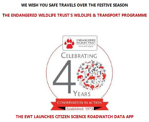 Endangered Wildlife Trust launches Roadwatch Data App