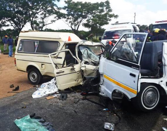 Fatal head-on collision with a taxi on the R511 just before Diepsloot this afternoon