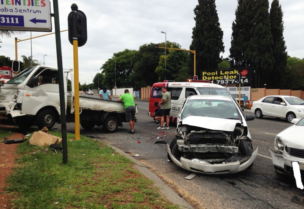 Domino collision in Randburg as vehicle skips a red light