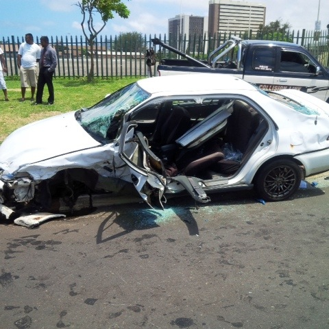 Collision at Durban intersection leaves 4 injured one entrapped