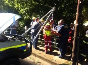 Elderly woman rescued after crashing into ravine in Pietermaritzburg