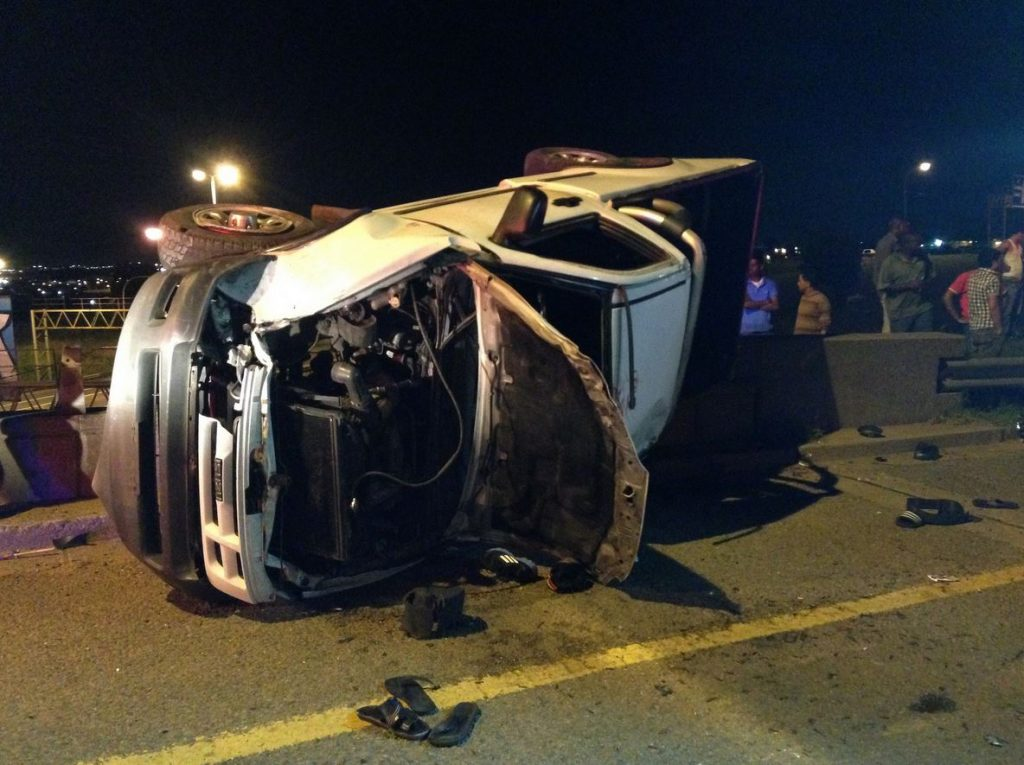 One killed, 13 injured in Johannesburg collision last night